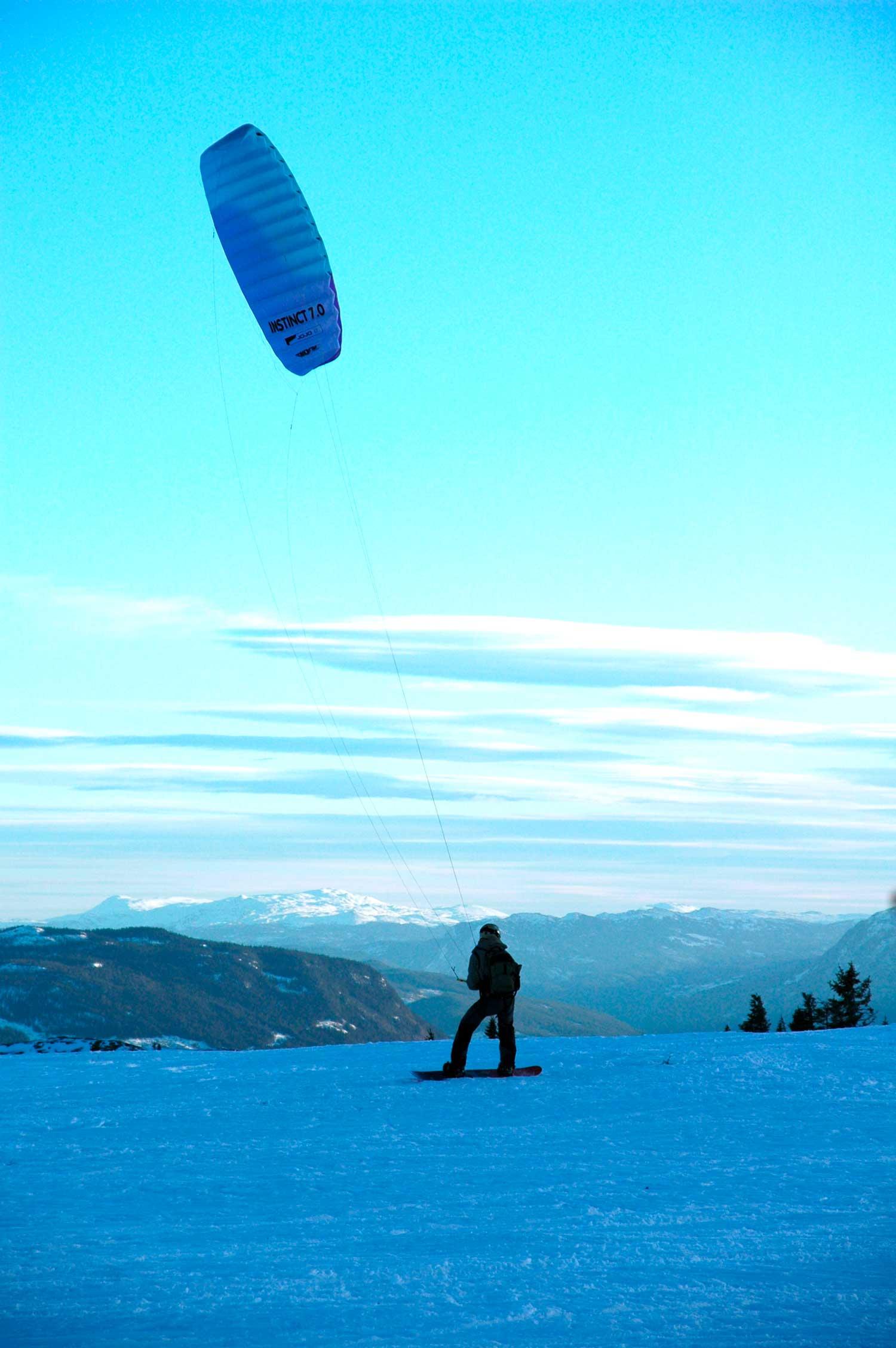Kiting, skiseiling, Golsfjellet, Gol, Hallingdal, Valdres, Hemsedal.