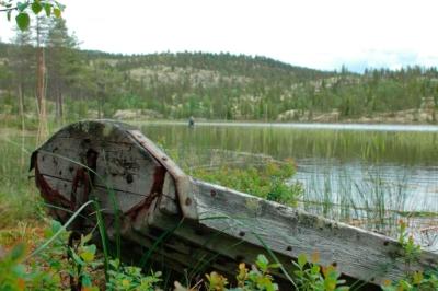 Fisking, frlluftsliv, båtaktiviteter, fluefiske, Gol, Golsfjellet, Hemsedal, Valdres, Hallingdal. Foto: Thorgeir Røer