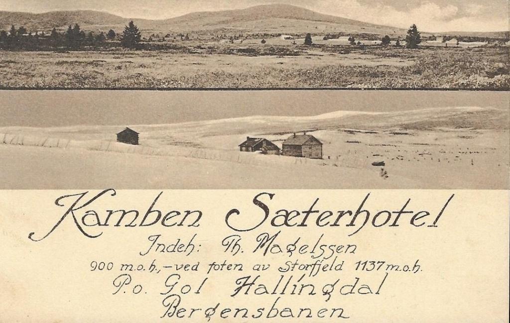 Kamben Sæterhotell Golsfjellet i Hallingdal, ca 1922.