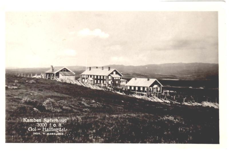 Kamben Sæterhotell Golsfjellet i Hallingdal, ca 1928.