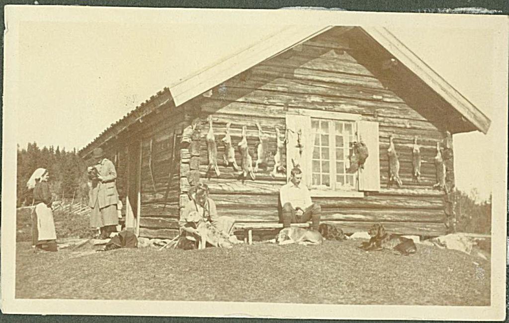 Hytteliv på Brautemo ca 1920. Golsfjellet, Hallingdal.