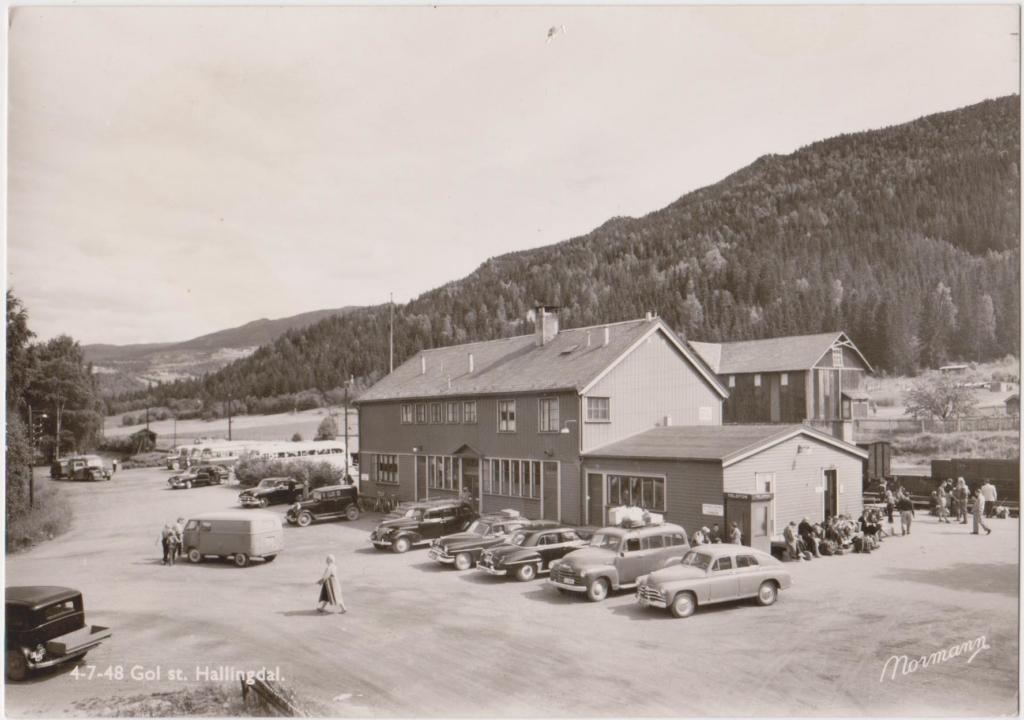 Gol stasjon, Bergensbanen, 1950-tallet.