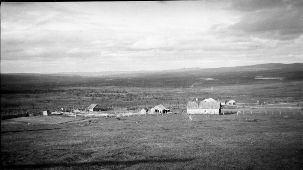 Utsikt fra Terverkstølen mot Eldstad ca 1940.