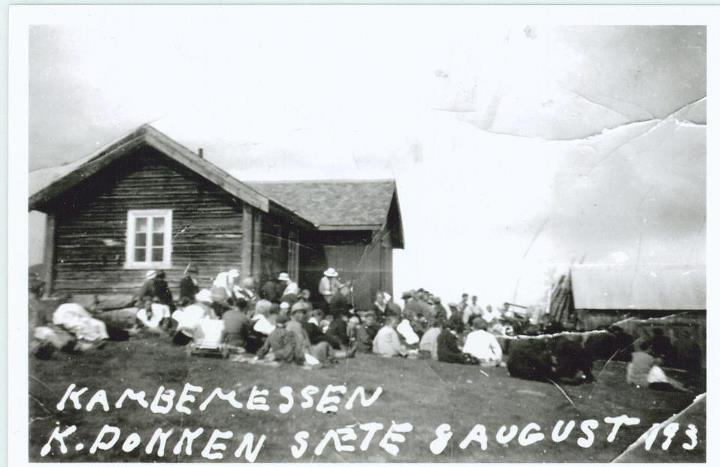 Kambemessa ca 1934 Golsfjellet i Hallingdal.