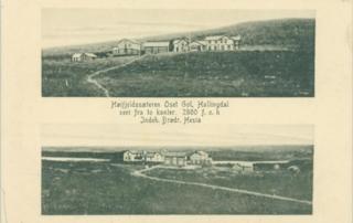 Oset Høyfjellshotell ca 1900. Golsfjellet i Hallingdal.