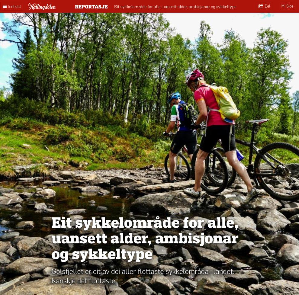 Sommermagasinet til Hallingdølen anbefaler Golsfjellet!