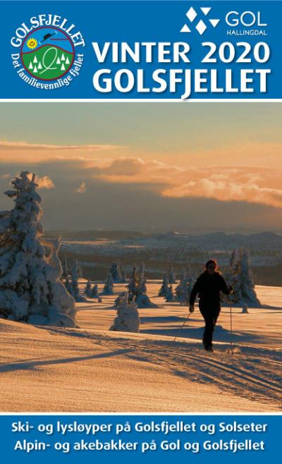 Vinterkart for Golsfjellet i Hallingdal. Oversikt over skiløyper, alpinsentre og andre vinteraktiviteter.
