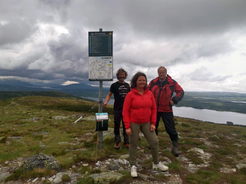 DNT-SjekkUT Golsfjellet. Martin Glimme, Gudrun Hesla og Arne Nibstad introduserer ny digital turbok på Golsfjellet.