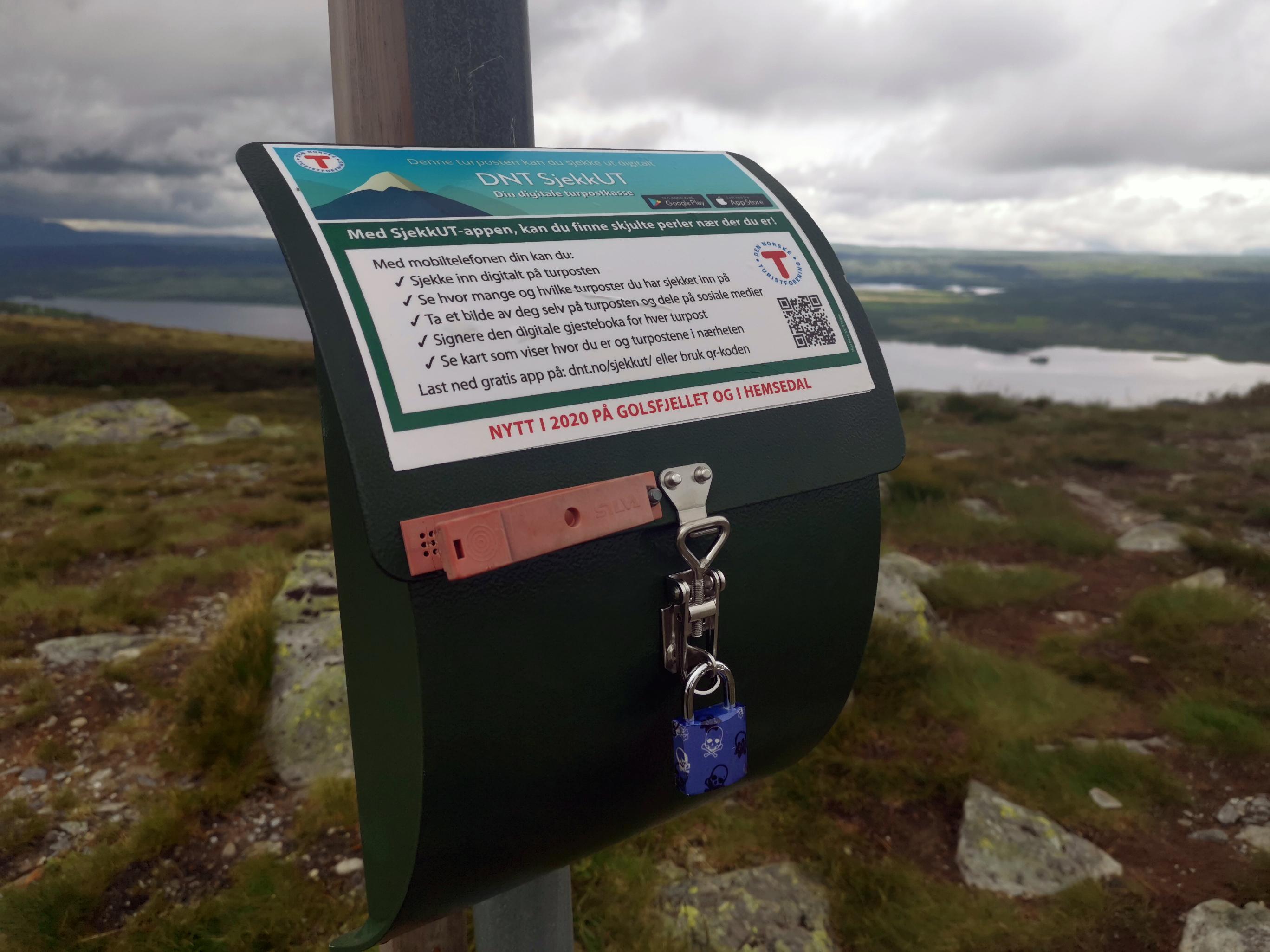 DNT SjekkUT erstatter turbøkene på Golsfjellet.