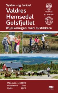 Sykkelkart og turkart Valdres, Hemsedal, Golsfjellet. Utgitt 2020.