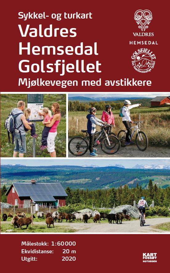Ny utgave av Sykkel- og turkart Valdres, Hemsedal og Golsfjellet