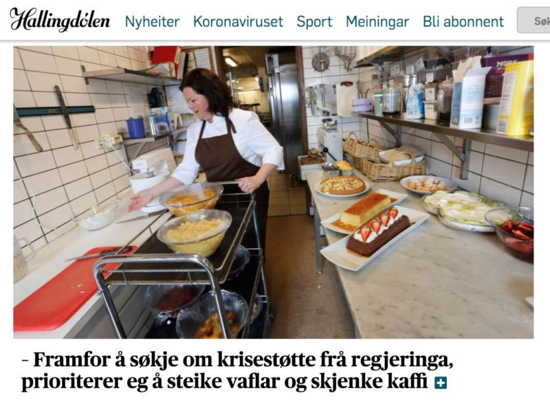 Gudrun Hesla på Oset høyfjellshotell opplever en omsetningsøkning på hele 50%.