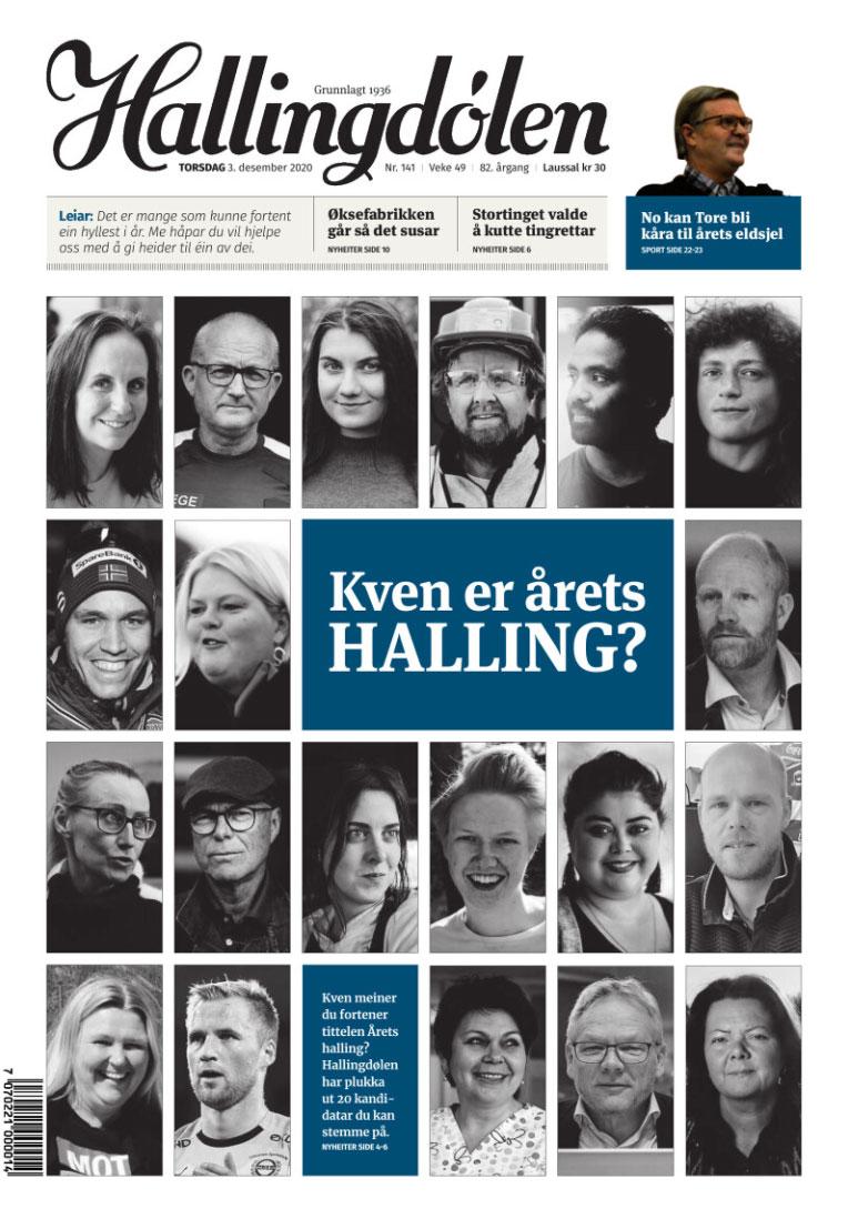 Gudrun Hesla, Oset, nominert til årets navn i Hallingdal 2020