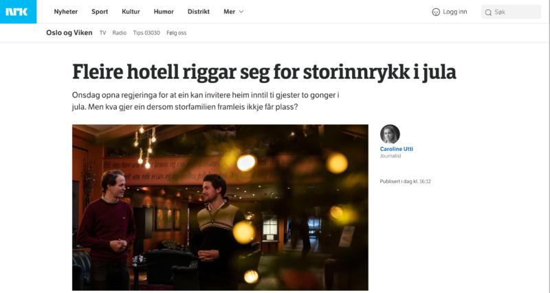 Hotelljul for mange familier i år. Storefjell, Golsfjellet, NRK