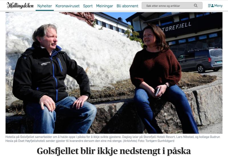 Gudrun Hesla og Lars Nibstad. Golsfjellet, påske, Hallingdal