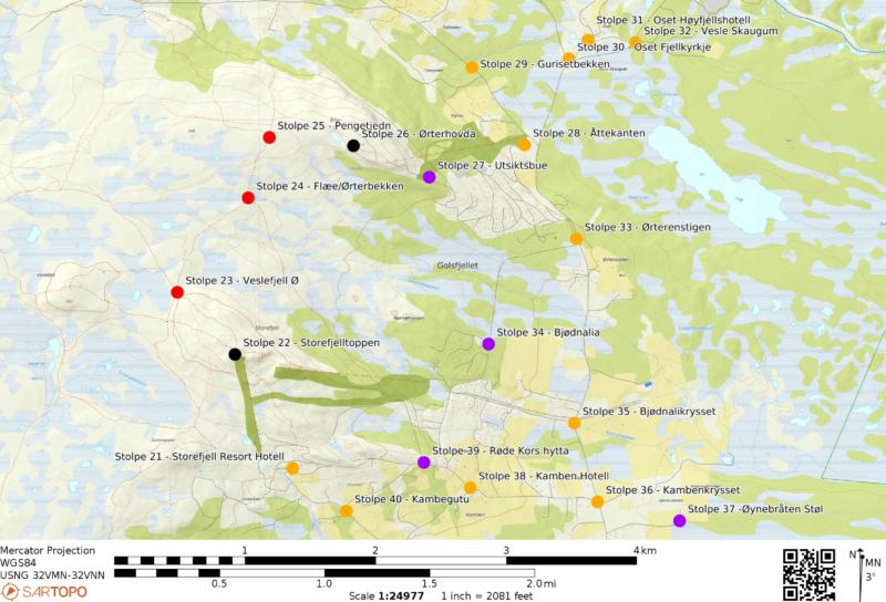 Stolpejakten, moro for hele familien. Gol, Golsfjellet, Hallingdal, Valdres.