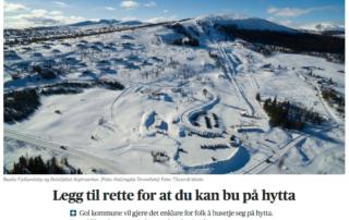 Trives du på hytta? Så flytt hit da vel. Golsfjellet, Gol, Hallingdal, Valdres.