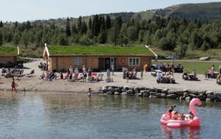 Vasskanten strandkafè på Golsfjellet i Hallingdal
